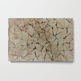 broken glass texture Metal Print