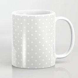 Dots (White/Platinum) Coffee Mug