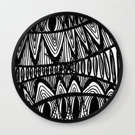 Original Creative black and white pattern illustration Wall Clock