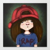 rap Canvas Prints featuring rap by Pınar Bibin