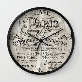 Paris Bistro VIII Wall Clock