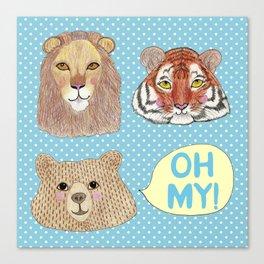 Lions & Tigers & Bears Canvas Print