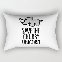 Save the chubby unicorn Rectangular Pillow