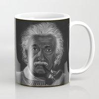 einstein Mugs featuring Einstein by Paula Leão