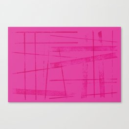 A hot pink mess Canvas Print