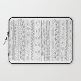 Grey aztec pattern Laptop Sleeve