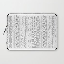 Grey aztec pattern Laptop Sleeve