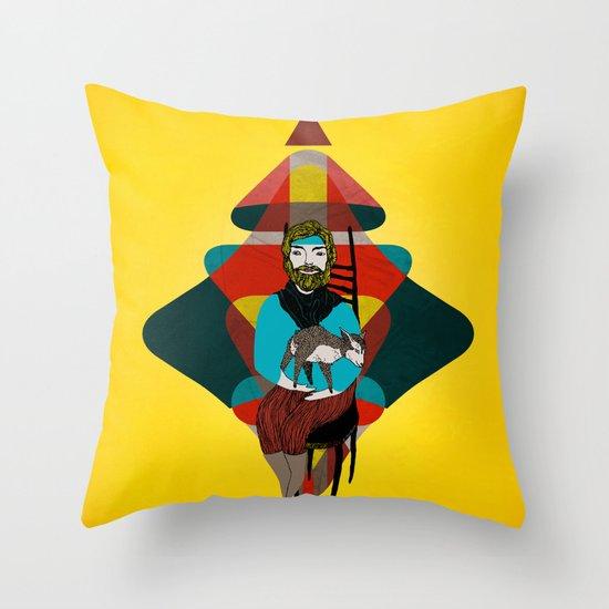 Goat Herder 2 Throw Pillow