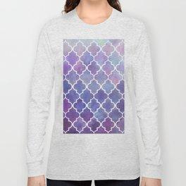 Purples & Pinks Watercolor Moroccan Pattern Long Sleeve T-shirt
