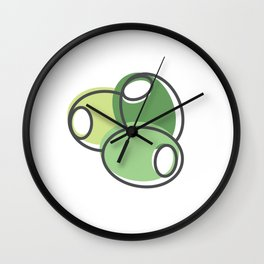 Greek Olives Wall Clock