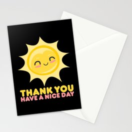 Thank You Have A Nice Day | Grocery Stationery Cards