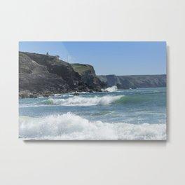 White Surf 01 Metal Print