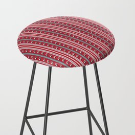 Striped Ahoy Red Bar Stool