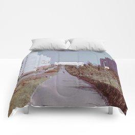 Pobedy Avenue in Amursk (1985) Comforters