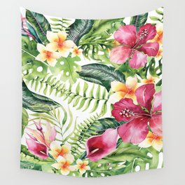 Tropical Botanical Wall Tapestry
