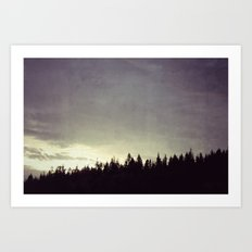 Sunset Over Trees Art Print