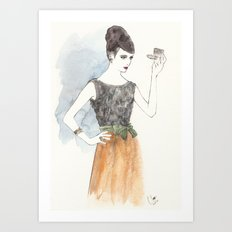 'Mary' Watercolor Fashion Illustration Art Print