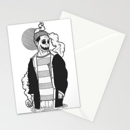 Spooky Boy Black and White Illustration  Stationery Cards