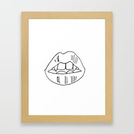 Love Bites Framed Art Print
