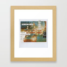 City Traffic Mixed Media Collage Framed Art Print