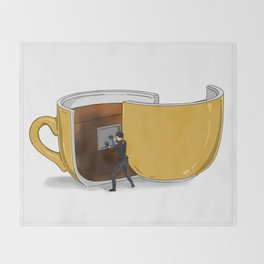 Coffee Confidential Throw Blanket