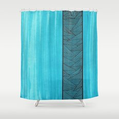 Light Blue Background Shower Curtain