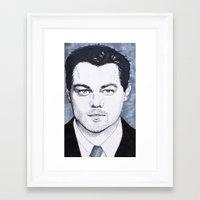 leonardo dicaprio Framed Art Prints featuring Leonardo DiCaprio by beecharly