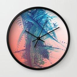 Salmon Surf Wall Clock