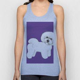 Bichon Frise dog on Ultraviolet, 2018 Bichon , Year of the dog, Pantone Ultraviolet Unisex Tank Top