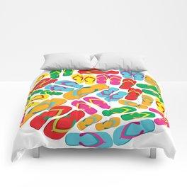 multicolored flip flops Comforters