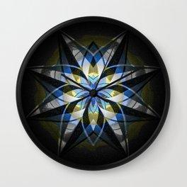 Textured Anasazi Star Mandala Wall Clock
