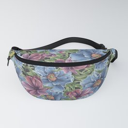 Hibiscus Flowers on Chalkboard Fanny Pack