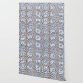 Vintage Art Nouveau Tiles Wallpaper
