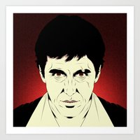 scarface Art Prints featuring Scarface by Renan Lacerda