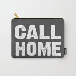 Call Home - Grey and White Carry-All Pouch