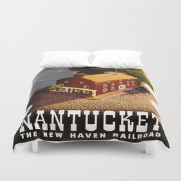 Vintage poster - Nantucket Duvet Cover