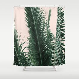 Maui Sunset Palm Leaves Tropicana Shower Curtain