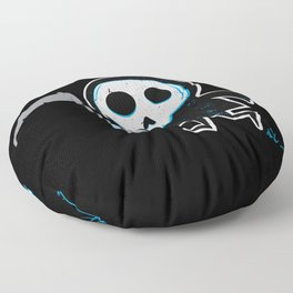 Better Late Than Never - Grim Reaper only Floor Pillow