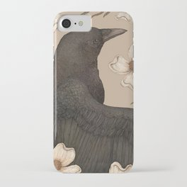 The Crow and Dogwoods iPhone Case