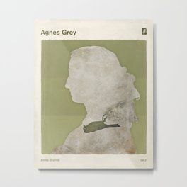 Anne Brontë Agnes Grey - Minimalist literary design Metal Print