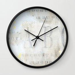 Artisan ABCs Wall Clock