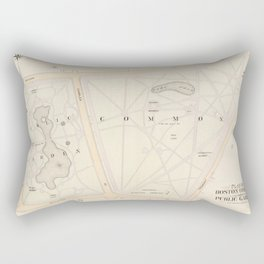Vintage Map of The Boston Commons (1895) Rectangular Pillow