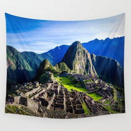 Machu Picchu First Light Wall Tapestry