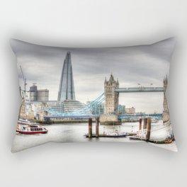 River Thames View Rectangular Pillow