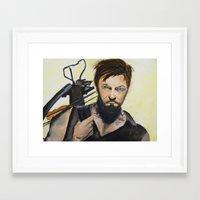 daryl Framed Art Prints featuring Daryl by Brittany Ketcham