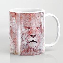 Watercolor Lion Vintage Africa Illustration Coffee Mug