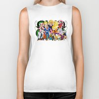 dbz Biker Tanks featuring DBZ - Buu Saga by Mr. Stonebanks