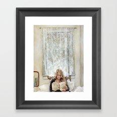 Morning Read Framed Art Print