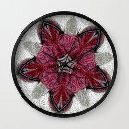Loves Sweet Kiss Mandala Wall Clock