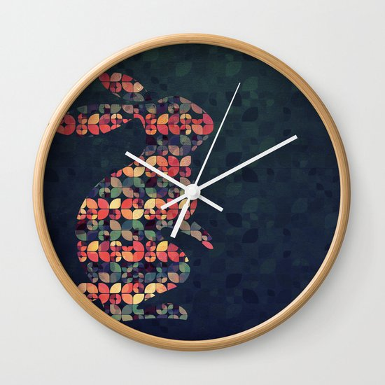 The Pattern Rabbit Wall Clock
